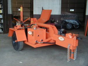 Concord Road Equipment Orange Log Splitter Front side