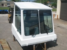 Concord Road Equipment White Construction Crane Cab
