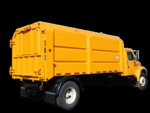 Concord Road Equipment Yellow Leaf Box Truck