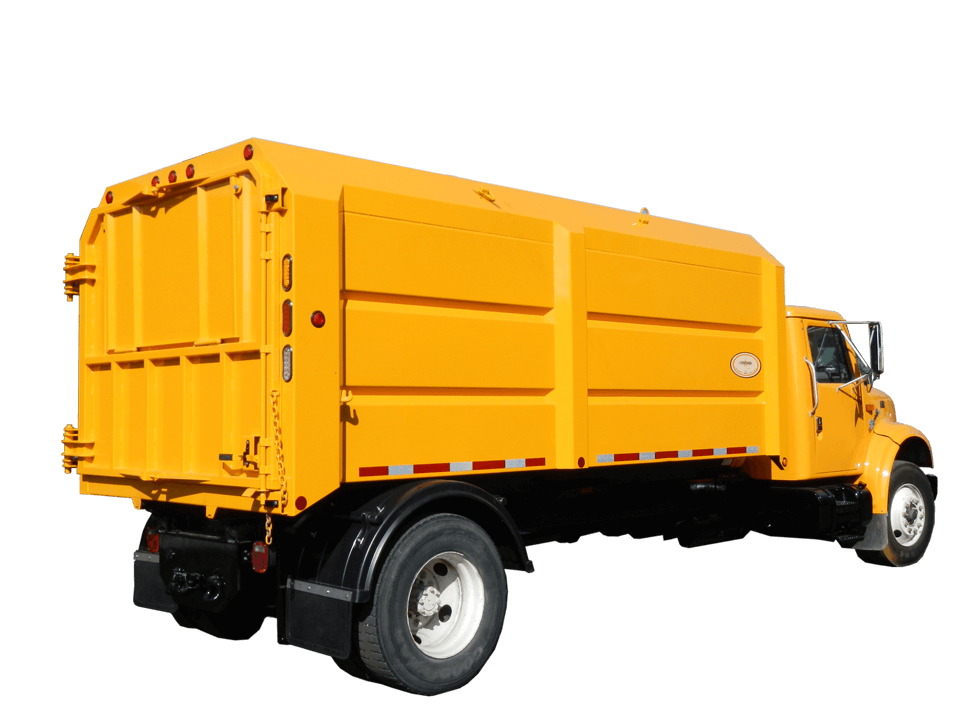 Concord Road Equipment Yellow Leaf Box Truck
