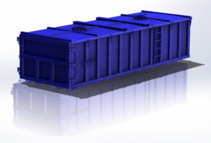 Concord Road Equipment Blue Container