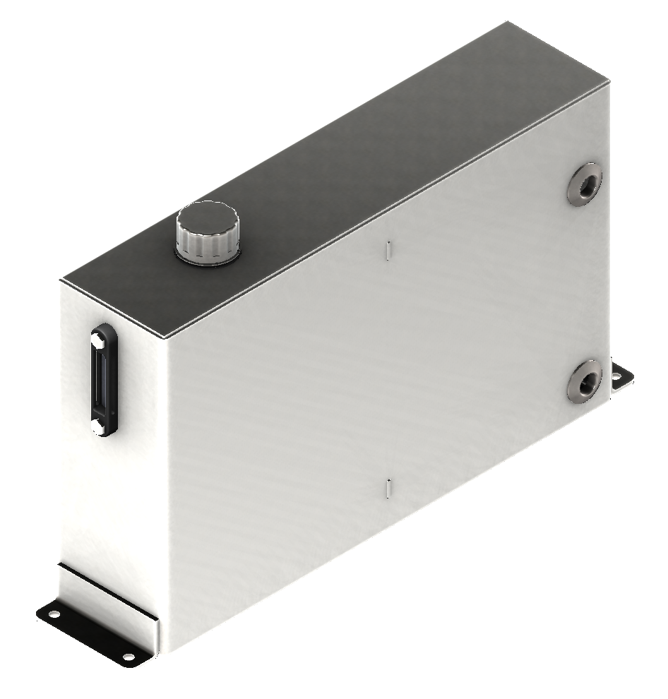 Concord Road Equipment Silver Short Rectangular Reservoir
