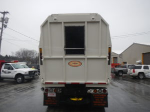 Concord Road Equipment White Leaf Container Rear
