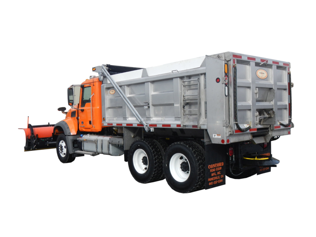 Concord Road Equipment Plow Truck With Dump Bed Side Rear View