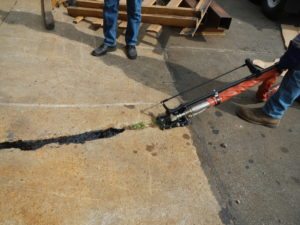 Working Sealing Cement Crack